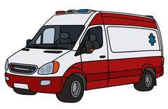 Red and white ambulance Stock Illustration