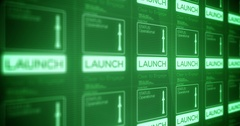 Submarine Military Technology Interface   Torpedo Nuclear Launch Panel Stock Footage