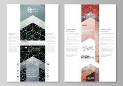 Blog graphic business templates. Page website design template, vector layout Stock Illustration