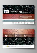 Business card templates. Easy editable layout, abstract vector design template Piirros