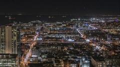 San Francisco Bay Night Time Lapse Stock Footage