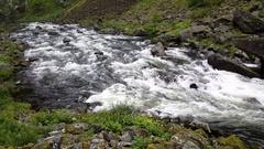 River in Voringfossen Stock Footage