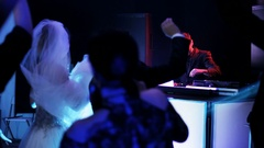 The Young Couple Dancing in a Nightclub Stock Footage