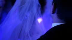 The Young Couple Dancing Slowly in a Nightclub Stock Footage