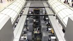 View of baggage conveyor belt in the Don Mueang airport Stock Footage