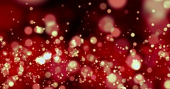 Christmas red sparkle background with bokeh, xmas holiday valentine day Stock Footage