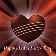 Valentines Day card with chocolate sweet candy heart Stock Illustration