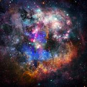 Abstract galaxy in deep space. Astronomy background. Stock Photos