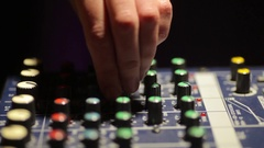 Hand on a sound mixer Stock Footage
