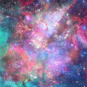 Nebula and stars in outer space. Elements of this image furnished by NASA. Stock Photos