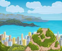 Rio de Janeiro skyline. Brazil city landscape. Piirros