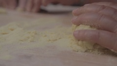 Knead the pasta Stock Footage