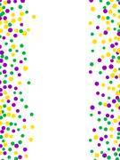 Bright abstract dot mardi gras pattern Piirros