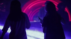 Girls dancing in a night club Stock Footage