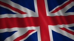 Knitted Flag of British. Stock Footage