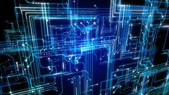 4K Animation futuristic technological abstract motion background. Stock Footage