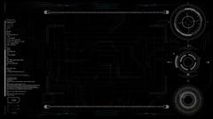 PNG alpha Futuristic HUD panel. Stock Footage