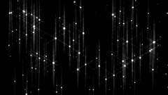 Twinkling white stars on a black background. Stock Footage