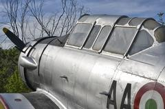 Aircraft aluminum structure with rivets Stock Photos