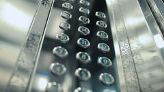 Close-up - the panel with levels buttons in a modern elevator Stock Footage