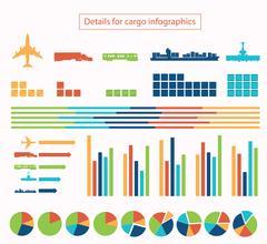 Details for cargo infographic Stock Illustration