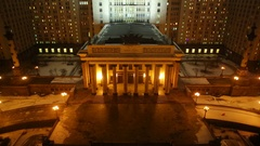 Moscow State University view from above Stock Footage