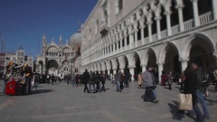 Tourists Walking In The Saint Marks Square, Venice, Italy Stock Footage