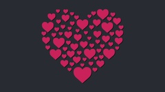 Hearts. Pink Hearts animation at full hd resolution. Stock Footage