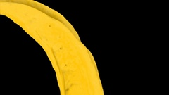 Color background - yellow paint flowing in slow motion - on black (FULL HD) Stock Footage