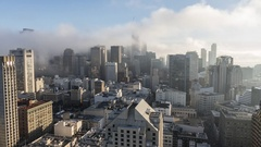 San Francisco Foggy Morning Towers Stock Footage