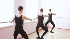 Dance Rehearsal near ballet barre Stock Footage