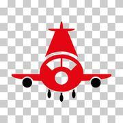 Cargo Plane Vector Icon Stock Illustration