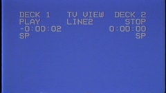Menu on the screen of the VCR Stock Footage