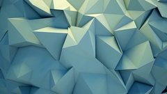 Abstract polygon crystallized background Stock Footage