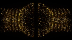 Abstract gold sphere and transparent background, alpha channel, loop Stock Footage