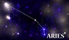 Symbol Aries Zodiac Sign. Vector Illustration Stock Illustration