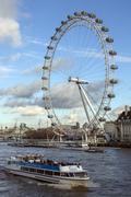 London Eye - River Thames - England Kuvituskuvat