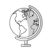 Earth planet icon Stock Illustration