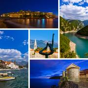 Collage of Montenegro travel images (my photos) Stock Photos