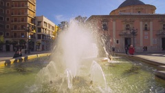 Valencia Spain Architecture Piaza de la Reina Stock Footage