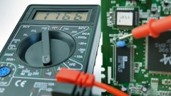 Electronics, Multimeter, Signal testing Stock Footage