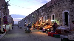 Souvenirs trade at the Fort of Saint Charles (La Cabana). Havana, Cuba Stock Footage