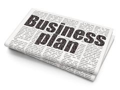 Finance concept: Business Plan on Newspaper background Stock Illustration