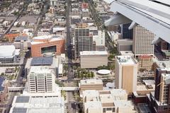 Low aerial view of city of Phoenix, Arizona Kuvituskuvat