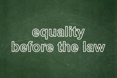 Politics concept: Equality Before The Law on chalkboard background Stock Illustration