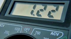 Electronics, Multimeter, Signal testing Stock Footage