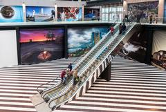 Interior of shopping mall Goodok. The largest shopping center in Samara, Ru.. Kuvituskuvat