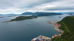 City of Alesund Norway Aerial footage Stock Footage
