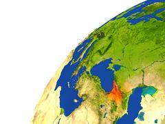 Country of Georgia satellite view Stock Illustration
