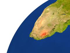 Country of Lesotho satellite view Stock Illustration